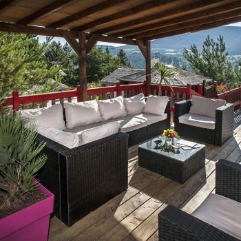 Terrasse village de gite lozere
